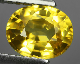 1.61 CTS~TOP LUSTROUS NATURAL CAMBODIA OVAL~YELLOW ZIRCON!!