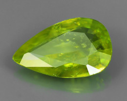1.45 Cts EXTRME LUSTER RARE NATURAL MULTI GREENISH-YELLOW SPHENE GEM!!