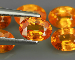 5.70 Cts_Oval Cut_Marvelous_Electric Orange_Africa_Sizzling_Spessarite_~