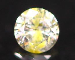 0.13Ct Yellow Diamond Untreated Round Brilliant Cut Fancy E1706