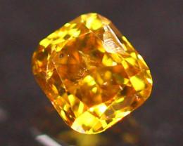 0.21Ct Champagne Orange Diamond Untreated Fancy Vivid E1710