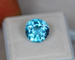5.95ct Blue Topaz Round Cut Lot V3865
