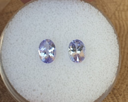 1,64ct Tanzanite pair - eye clean!