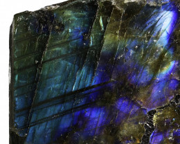 "828.25 CTS  LABRADORITE -PART POLISHED""""-ELECTRIC MIDNIGHT [F7787"