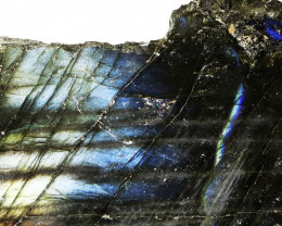 "657.60 CTS  LABRADORITE -PART POLISHED""""-ELECTRIC MIDNIGHT [F7795"