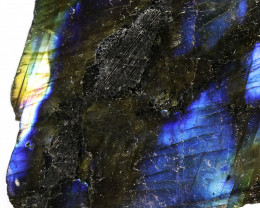 "530.00 CTS  LABRADORITE -PART POLISHED ""ELECTRIC MIDNIGHT [F7799]"