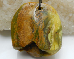 Handmade Gemstone ,Wholesale Jewelry ,Yellow Opal Raw Pendant C156