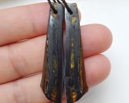 New Arrival Iron Tiger Earrings ,Handmade Gemstone ,,Lucky Stone C160