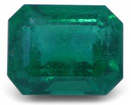 2.16 ct Emerald Cut Emerald GIA Certified