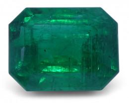 2.13 ct Emerald Cut Emerald GIA Certified