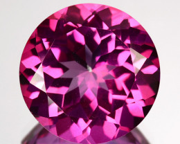 5.67 Cts Candy Pink Natural Topaz 11mm Round Cut Brazil