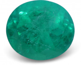 1.63 ct Oval Emerald GIA Certified Colombian