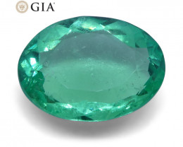 1.41 ct Oval Emerald GIA Certified Colombian
