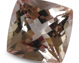 17.39 ct Cushion Morganite GIA Certified - $1 No Reserve