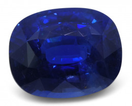 5.86 ct Cushion Natural Sapphire GIA Certified Ethiopian Unheated with Insc