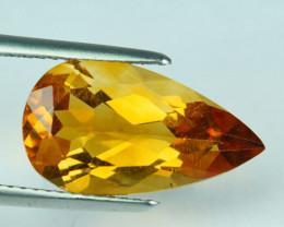 5.07 Cts Natural Golden Orange Citrine Pear Cut Brazil