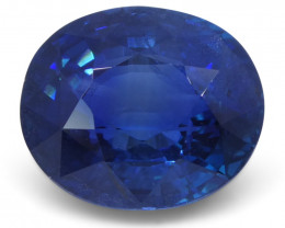 6.07 ct Oval Natural Sapphire GIA Certified Ethiopian Unheated with Inscrip