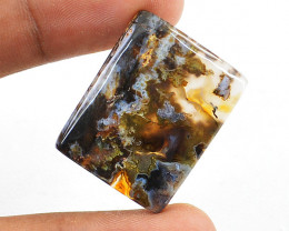 Genuine 35.00 Cts Moss Agate Cab