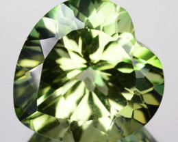 Natural Green Mystic Topaz 14 mm Heart Cut Brazil 12.49 Cts