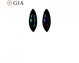 1.32 ct Marquise Alexandrite GIA Certified Blue-Green to Purple