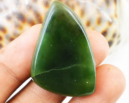 Genuine 55.00 Cts Green Jade Cab