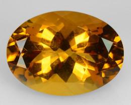 5.61 Cts Natural Golden Orange Citrine 14x10 mm Oval Cut Brazil