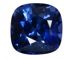 1.10 ct Cushion Cut Blue Sapphire (Rich Royal Blue)
