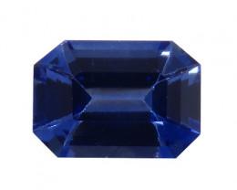 0.87 ct Emerald Cut Blue Sapphire (Cornflower Blue)