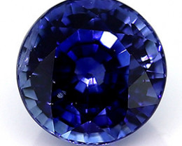 0.51 ct Round Blue Sapphire  (Fine Royal Blue)