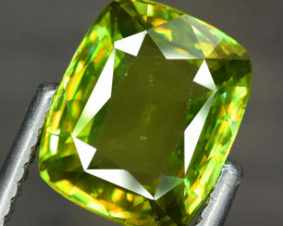 6.20 Carats  Cushion Cut Full Fire Sphene Titanite Gemstone