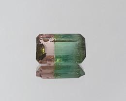 Bicolor Tourmaline Octagon 1 ct Pink And Green Tourmaline Watermelon (SKU 8