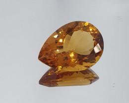 Big Dark Citrine Faceted Pear Drop  18.68ct( SKU 17)