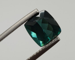 2.95 ct Indicolite Faceted  Long Cushion Blue Tourmaline(SKU 90)