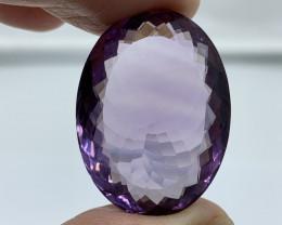 Amethyst Loose Gemstone - 48.69 ct Shape Oval  Colour Purple Reserve: 180 $