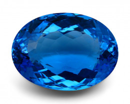 89.21 ct Oval Swiss Blue Topaz IGI Certified