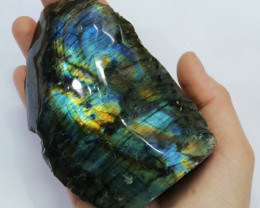 "2377.5 CTS  LABRADORITE -PART POLISHED ""ELECTRIC MIDNIGHT [F7814]"