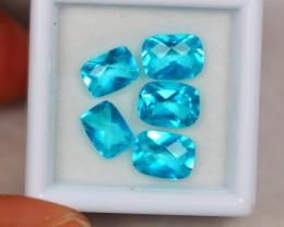 6.77ct Paraiba Color Topaz Mixed Size Lot V3888