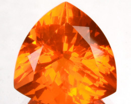 2.33 Cts Fiery Orange Natural Mexican Fire Opal 10 mm Trillion Cut