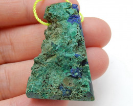 Nugget Blue Azurite Gemstone Pendant Bead, Natural Stone  H4589
