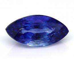 RARE - 1.10 ct Royal Blue Marquise Blue Sapphire