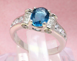 Kyanite 3.69g Natural Blue Kyanite 925 Sterling Silver Ring E1907