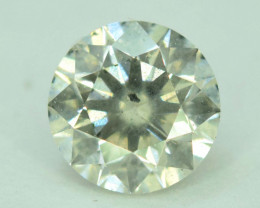 Certified  0.52 Carats Round Cut Natural WHITE DIAMOND loose Gemstone