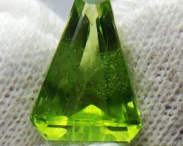 Natural Peridot 4.95 Carats Triangle shape
