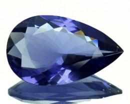 Sublime 2.91Ct Natural Nice Blue Iolite Pear Cut Tanzania