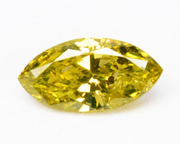 Natural Canary Yellow Diamond Marquise Cut Africa 0.17 Cts