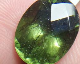 Natural Rutile Olivine Green Paridot Oval shape Rose Cut 9.90 carat