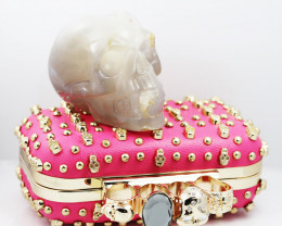 Crystal Jasper Skull with Bonus Skull Purse   WS 1005
