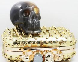 Crystal Jasper Skull with Bonus Skull Purse   WS 1012
