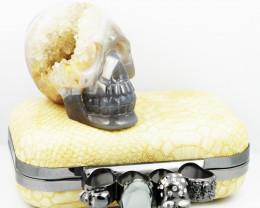 Crystal Jasper Skull with Bonus Skull Purse   WS 1008