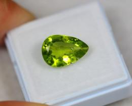 4.04Ct Green Peridot Pear Cut Lot Z383